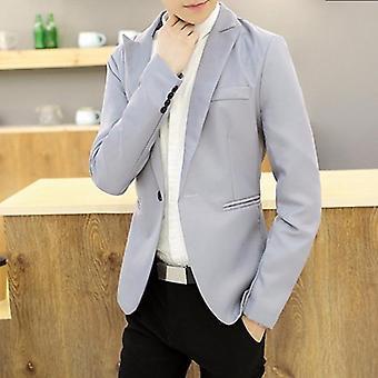 Autumn Men's Blazer Suit, Male Suits Business Slim Fit, Jackets Coat