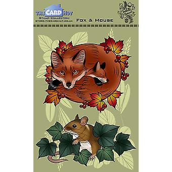 The Card Hut Fox and Mouse Clear Stamps