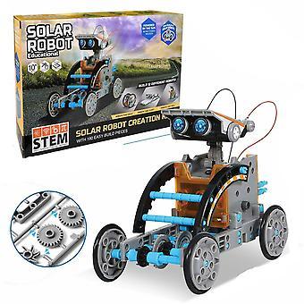 Discovery Solar Robot Kit toimivalla aurinkovoimalla toimivalla moottoroidulla moottorilla ja vaihteilla