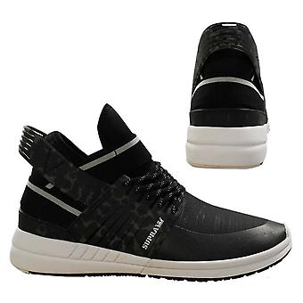 Supra Skytop V Black White Slip On High Top Lace Up Mens Trainers 08032 002 B5C