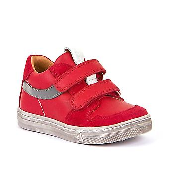 FRODDO Double Velcro Leather Shoe Red