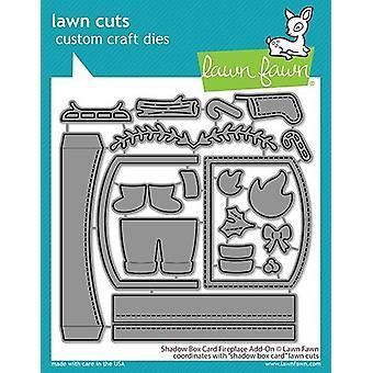 Lawn Fawn Shadow Box Card Fireplace Add-On Dies