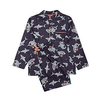 Minijammies Thomas 6533 Boy's Grey Shark Cotton Pyjama Set