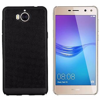Colorfone Huawei Y6 2017 / Y5 2017 Shell Mit Loch (Schwarz)