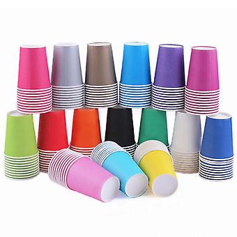 Assorted Color Disposable Paper Cups 250ml