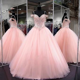 Sexy Party Kleid Kristall Perlen