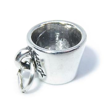 Mug - Cup Sterling Silver Charm .925 X 1 Cups And Mugs Charms - 8290