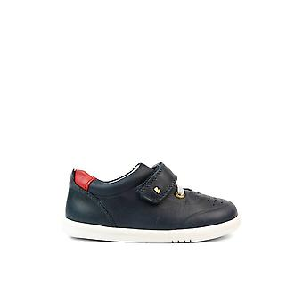 BOBUX Single Velcro Iw Ryder Shoe In Navy & Red