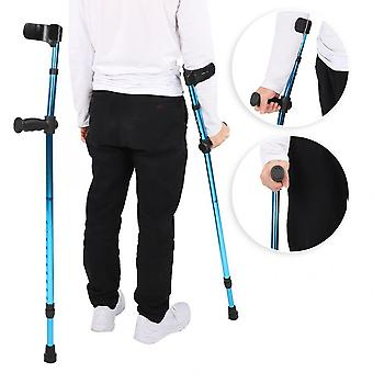 Portable Folding Adjustable Telescopic Underarm Cane Crutch Walking Stick