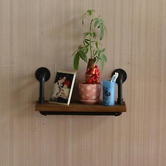 Simples prateleira de arte de ferro moderna/prateleira de estante criativa Parede de partição de estante pendurado