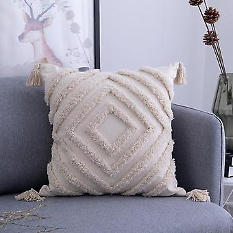 Pillow Cover  Handmade Square Home Decoration For Living Bed Room Zip