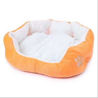 Lamb Wool Kennel Teddy Bichon Removable And Washable Pet Kennel Supplies