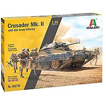 Italeri 6579S 1:35 Crusader Mk.II with 8th Army Infantry Model Kit