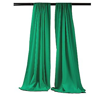 La Linen Pack-2 Polyester Poplin Backdrop Drape 96-Inch Wide By 58-Inch High, Jade