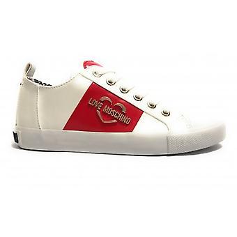 Schuhe Damen Liebe Moschino Sneaker Ecopelle Nappa Bianco D20mo15