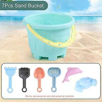 الشاطئ، لعب المياه الرمل مربع مجموعة، الجدول، دلو، الصيف