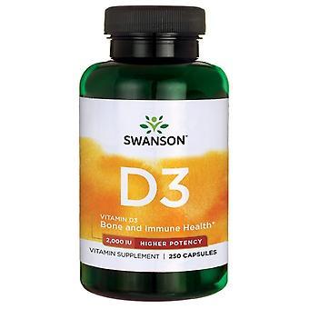Swanson Vitamine D3 2000 IE Hogere potentie 250 capsules