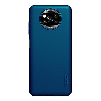 Nillkin Xiaomi Poco X3 NFC Frosted Shield Case - Shockproof Case Cover Cas Blue