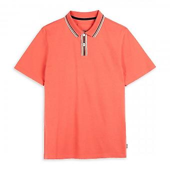 Ted Baker Twitwoo SS Stripe Kraag Coral Roze Polo Shirt