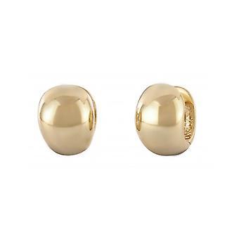 Pendientes de aro de viajero 22ct chapado en oro 14mm - 145051 - 411