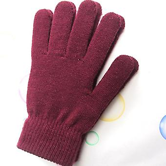 Fashionable Women's Winter Wool Knitted Gloves