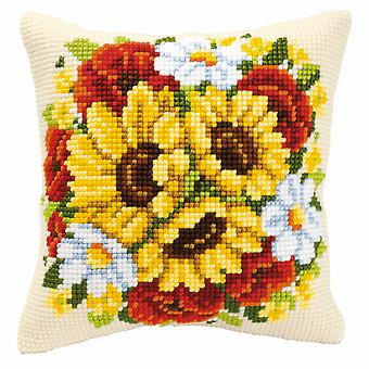 Vervaco Cross Stitch Kit: Coussin: Floral Posy