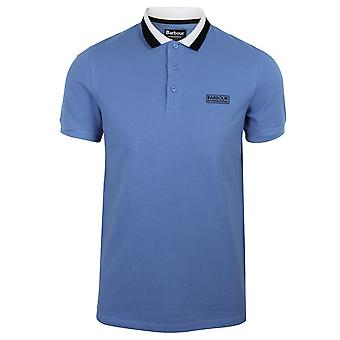Barbour international mens pure blue ampere polo shirt