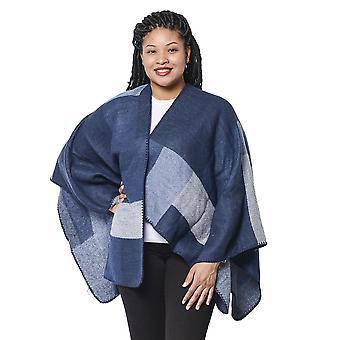 Checker Mönster Kimono i marin och blå 135x70cm