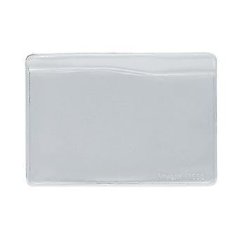 Favorit 100500082 - Card holder with 2 Pockets 2 Shaped Pockets, 8.5 x 5.4 cm, Transparent