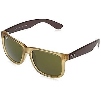Ray-Ban 0RB4165 Sonnenbrille, HELLBRAUNER TRANSPARENTER GUMMI, 51 Unisex-Erwachsene