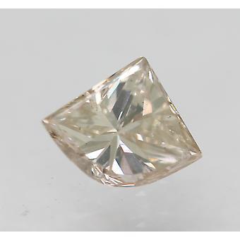 سيرت 0.26 قيراط البني الفاتح VS2 درع شكل الماس فضفاضة الطبيعية 5.44x4.34mm