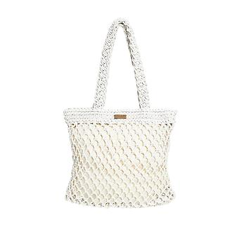 Cozumel Crochet Tote Bag Light Cream