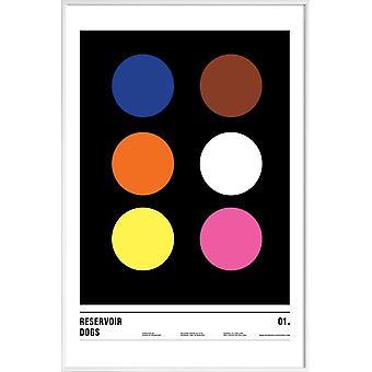 JUNIQE Print -  Reservoir Dogs - Filme Poster in Rosa & Schwarz