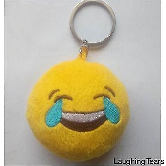 Uttryckssymbol nyckelringar - solglasögon, bajs, hjärtögon, kasta en kyss och skratta tårar