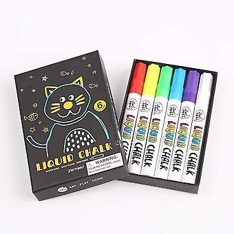 6 Coloured liquid Chalk Markers