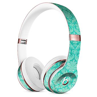 Deep Teal Luxury Pattern Full-body Skin Kit For The Beats By Dre Solo