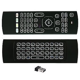 Mx3 mouse aereo google voice telecomando ir apprendimento sensore giroscopio 2.4g rf tastiera wireless per Android Tv Box x96 mini h96max