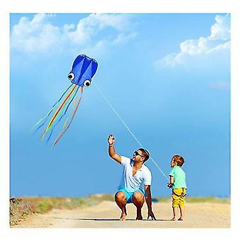 4m Nagy Polip Sárkányok, Long Tail Beautiful Easy Flyer Sárkányok Beach Sárkányok, a Fly (Kék)
