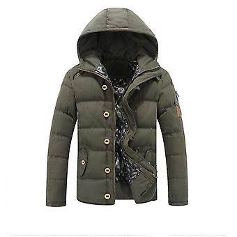 Men's Thick Stand-up Collar Hooded Jacket