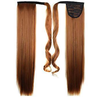 (60cm30#) Largo lacio pelo wrap ponytail clip en pony tail extensiones de pelo natural