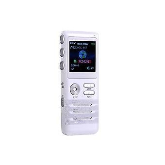 8 GB Mini Digital Röstinspelare Dictaphone Dual core Stereo Noise Reduction Function Vit Ny Hög