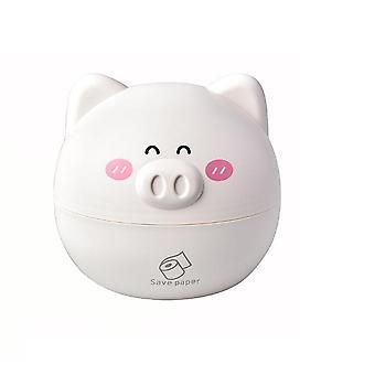 2Pcs Cute Pig Tissue Holder box Chic Nordic Roll Paper Round Shaped Box Home Car Tissue Box