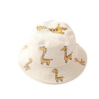 Summer 1-4y baby sun hat  baby sun hats anti-uv giraffe pattern summer boys girls kids children sun fisherman hats Бейсболка