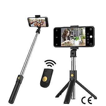 (White) 3 in 1 Wireless Bluetooth Selfie Stick Foldable Mini Tripod Expandable Monopod with Remote