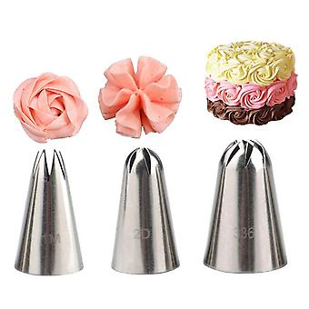 Rose pastry nozzles cake decorating tools 1/3pcs/set flower icing piping nozzle cream cupcake tips baking accessories #1m 2d 336