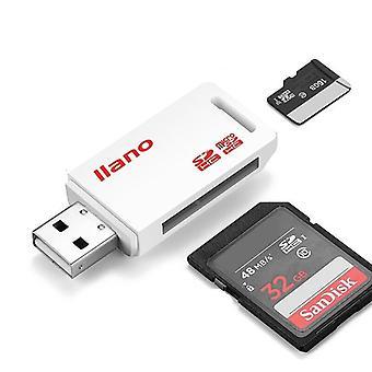 Card Reader Usb 2.0 Sd/micro Sd Tf Otg Smart Memory Card Adapter