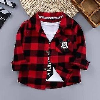 Spædbarn Kids Fashion Bomuld Plaid Shirt