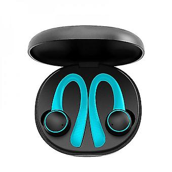 Caraele Wireless Bluetooth 5.0 In-ear Headphones Built-in Microphone With Charging Case For Work Travel Gym(green)