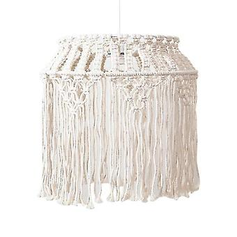 Home decor decals 40*40cm bohemian tassel decor macrame tapestry wall hanging hand woven chandelier lampshade
