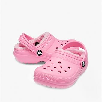 Crocs Classic Vuorattu Kids Clogs Vaaleanpunainen Limonadi